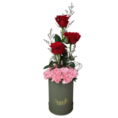 Boxed flowers Box arrangement ecuador roses and carnations. Free delivery within some Metro Manila Cities. Guaranteed fresh on delivery. Reliable Florist in Makati City Philippines