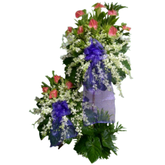 Let us convey your condolences and sympathy with this funeral spray of flowers. Reliable delivery service by online Philippine Flower shop,