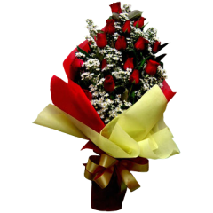 Bouquet roses by reliable online florist. Delivery service to Bonifacio Global City, Makati, Quezon City, Caloocan. Valentine's day gift by online Manila flower shop.