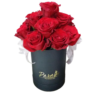 Box arrangement of 12 Ecuador roses. Guaranteed fresh on delivery. Say it with flowers from manilablooms.com reliable flower shop located in Makati City